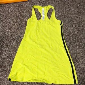 🖤lululemon tank top neon yellow/black stripe sz4